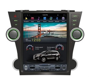 CarMedia ZF-1225-DSP Tesla-Style для Toyota Highlander 2007-2013 U40 на Android 9.0