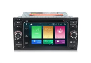 CarMedia MKD-F745B-P6 для Ford Focus, C-Max, S-Max, Fiesta, Fusion, Mondeo, Transit, Kuga (черная) на Android 10.0