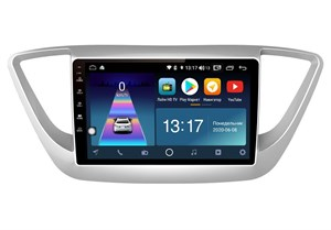 DayStar DS-7018Z с DSP + 4G SIM + CarPlay для Hyundai Solaris 2017-2020 на Android 8.1.0
