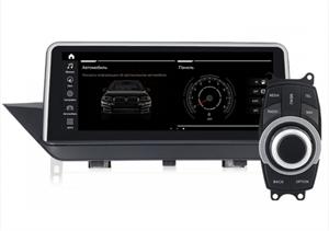 Штатная магнитола Roximo RW-2704QD для BMW X1 E84 (2009-2015) для комплектации без штатного дисплея, iDrive в комплекте на Android 9.0