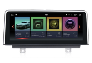 Штатная магнитола Roximo RW-2710N для BMW 3 серии F30 F31 F34 F35 F80, 4 серии F32 F33 F36 F82 F83 (2012-2018) для NBT на Android 9.0