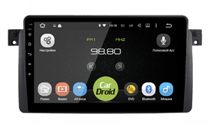 Штатная магнитола Roximo CarDroid RD-2741F для BMW 3 E46 на Android 9.0 DSP