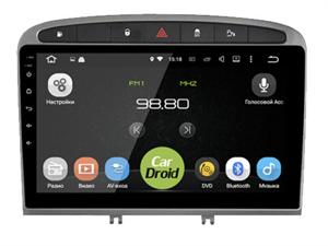 Штатная магнитола Roximo CarDroid RD-2901F для Peugeot 308 I, 408 2007-2017 на Android 9.0 DSP
