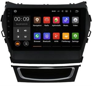 Штатная магнитола Roximo 4G RX-2019-N17 для Hyundai Santa Fe III 2012-2019 на Android 10.0 (комплектация с навигацией и 360, включает специальную проводку + карман)
