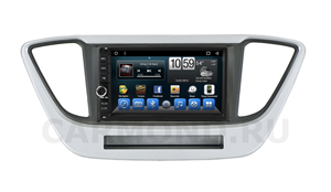 Штатная магнитола CarMedia (KR-7141-RHY-N55) для Hyundai Solaris II 2017-2020 на Android 9.0