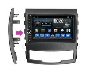 Штатная магнитола CarMedia (KR-7141-RSY-N04) для SsangYong Actyon II 2010-2013 на Android 9.0