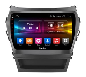 CarMedia OL-9703-2D-P6-H TESLA для Hyundai Santa Fe III 2012-2018 на Android 9.0