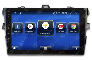 IQ NAVI TS9-2904CFHD с DSP + 4G SIM + CarPlay для Toyota Corolla X (E140 / E150) (2006-2013) на Android 8.1.0