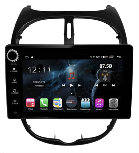 Farcar H778RB (S400) с DSP + 4G SIM для Peugeot  206 1998-2008 на Android 10.0 с кнопками