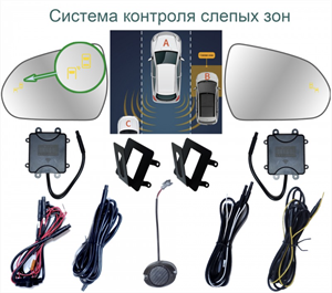 Система контроля слепых зон Roximo BSM-2129 для Kia Optima 3, Kia Magentis 2
