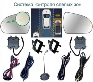 Система контроля слепых зон Roximo BSM-2025 для Toyota Land Cruiser 200, Prado 150, Lexus LX/GX 2009
