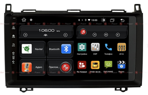 Redpower 61068M для Mercedes-Benz A-klasse (W169) 2004-2012, B-klasse (W245) 2005-2011, Vito ll (W639) 2006-2014, Vito III (W447) 2014-2020, Viano ll (W639) 2006-2014, Sprinter на Android 10.0 (матовая рамка)
