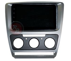 Переходная рамки для Skoda Octavia A5 с кондиционером (тёмно-серая) RPSC002