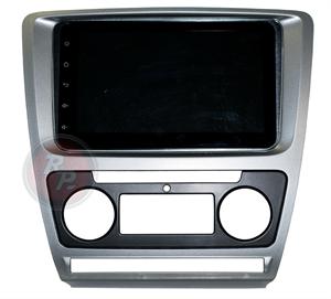 Переходная рамка для Skoda Octavia A5 с климат-контролем (тёмно-серая) RPSC005