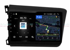 Штатная магнитола VAYCAR 10V4 для Honda Civic 2012-2015 на Android 10.0