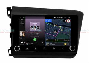 Штатная магнитола VAYCAR 10V4R для Honda Civic 2012-2015 на Android 10.0