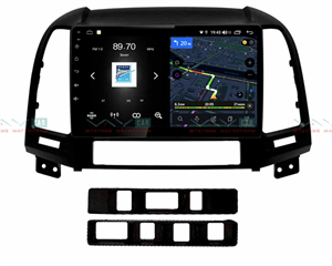 Штатная магнитола VAYCAR 09V4 для Hyundai Santa Fe III 2005-2012 на Android 10.0