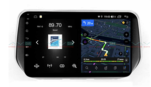Штатная магнитола VAYCAR 10V4D 1DIN для Hyundai Santa Fe 2018+ на Android 10.0