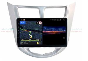 Штатная магнитола VAYCAR 09V3 для Hyundai Solaris I 2011-2017 на Android 10.0