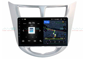 Штатная магнитола VAYCAR 09V4 для Hyundai Solaris I 2011-2017 на Android 10.0