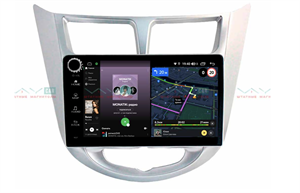 Штатная магнитола VAYCAR 09V4R для Hyundai Solaris I 2011-2017 на Android 10.0
