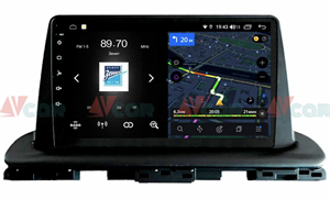 Штатная магнитола VAYCAR 09V4D 1DIN для Kia Cerato IV 2018-2021 на Android 10.0