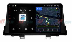 Штатная магнитола VAYCAR 09V4D 1DIN для Kia Picanto III 2017-2020 на Android 10.0