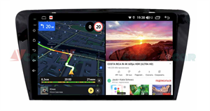 Штатная магнитола VAYCAR 10V6 для Skoda Octavia III (A7) 2013-2018 на Android 10.0