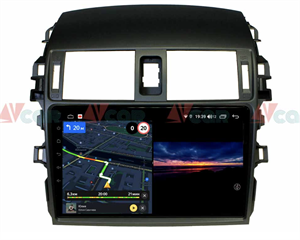 Штатная магнитола VAYCAR 09V3 для Toyota Corolla X (E140, E150) 2006-2013 на Android 10.0