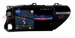 Штатная магнитола VAYCAR 10V3 для Toyota Hilux VIII 2015-2020 на Android 10.0