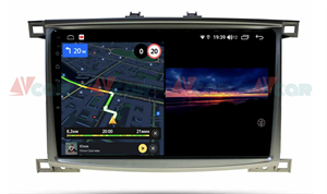 Штатная магнитола VAYCAR 10V3 для Toyota Land Cruiser 100 2002-2007 на Android 10.0
