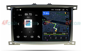 Штатная магнитола VAYCAR 10V4 для Toyota Land Cruiser 100 2002-2007 на Android 10.0