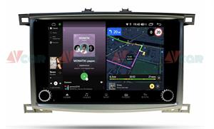 Штатная магнитола VAYCAR 10V4R для Toyota Land Cruiser 100 2002-2007 на Android 10.0