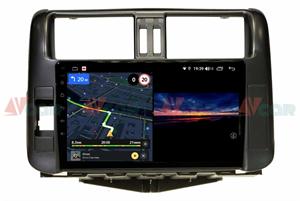 Штатная магнитола VAYCAR 09V3 для Toyota Land Cruiser Prado 150 2009-2013 на Android 10.0