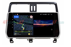 Штатная магнитола VAYCAR 10V3 для Toyota Land Cruiser Prado 150 2017-2020 на Android 10.0