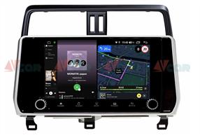 Штатная магнитола VAYCAR 10V4R для Toyota Land Cruiser Prado 150 2017-2020 на Android 10.0