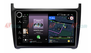 Штатная магнитола VAYCAR 09V4R для Volkswagen Polo 5 2009-2019 на Android 10.0