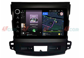 Штатная магнитола VAYCAR 09V4R для Mitsubishi Outlander II (XL) 2006-2012 на Android 10.0