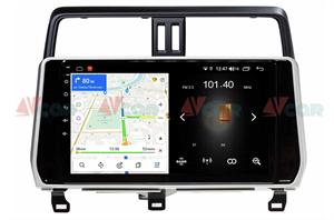 Штатная магнитола VAYCAR 10L для Toyota Land Cruiser Prado 150 2017-2020 на Android 8.1