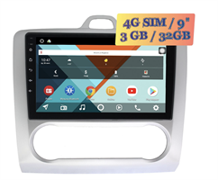 Wide Media KS9060QR-3/32 4G-SIM для Ford Focus 2005-2011 с климатом Android 10.0