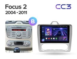 Штатная магнитола Teyes CC3 6/128 ГБ для Ford Focus II 2005-2011 на Android 10.0