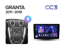 Штатная магнитола Teyes CC3 для Lada Granta I 2011-2018 на Android 10.0