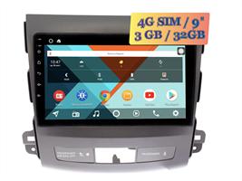 Wide Media KS9029QR-3/32 4G-SIM для Peugeot 4007 (2007 - 2012) для авто без Rockford Android 10.0