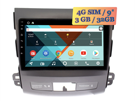 Wide Media KS9058QR-3/32 4G-SIM для Mitsubishi Outlander II 2006 - 2012 для авто с Rockford Android 10.0