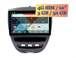 Wide Media KS1152QR-3/32 4G-SIM для Peugeot 107 2005 - 2012 Android 10.0