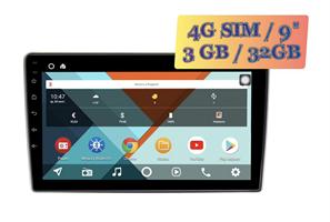 Wide Media KS9101QR-3/32 4G-SIM для Peugeot 307 2001 - 2008 Android 10.0