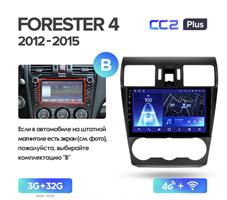 Штатная магнитола Teyes CC2 Plus 3/32 ГБ для Subaru Forester IV 2013-2014, Impreza IV 2012-2017 на Android 10.0