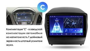 Штатная магнитола Teyes CC2 Plus 3/32 ГБ для Hyundai ix35, Tucson II 2010-2015 на Android 10.0