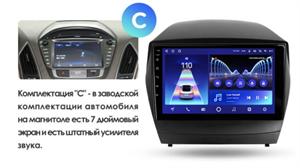 Штатная магнитола Teyes CC2 Plus 4/64 ГБ для Hyundai ix35, Tucson II 2010-2015 на Android 10.0