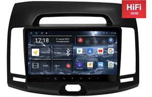 Штатная магнитола Redpower 75092B Hi-Fi для Hyundai Elantra Old 2006-2011 на Android 10.0 черная